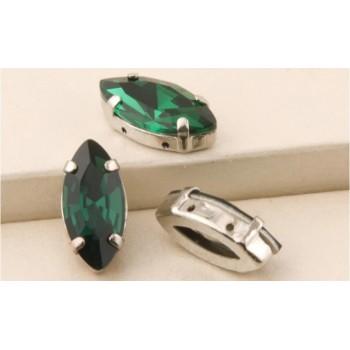 Лодочка Emerald в оправе (хрусталь)